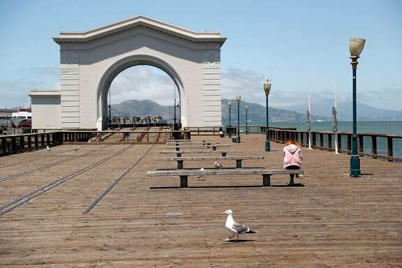 Fisherman's Wharf is sparsely populated in San Francisco, Calif., on Wednesday, July 2, 2020. The Bay Area and California are struggling to control the coronavirus  after having success with shelter in place earlier in 2020.