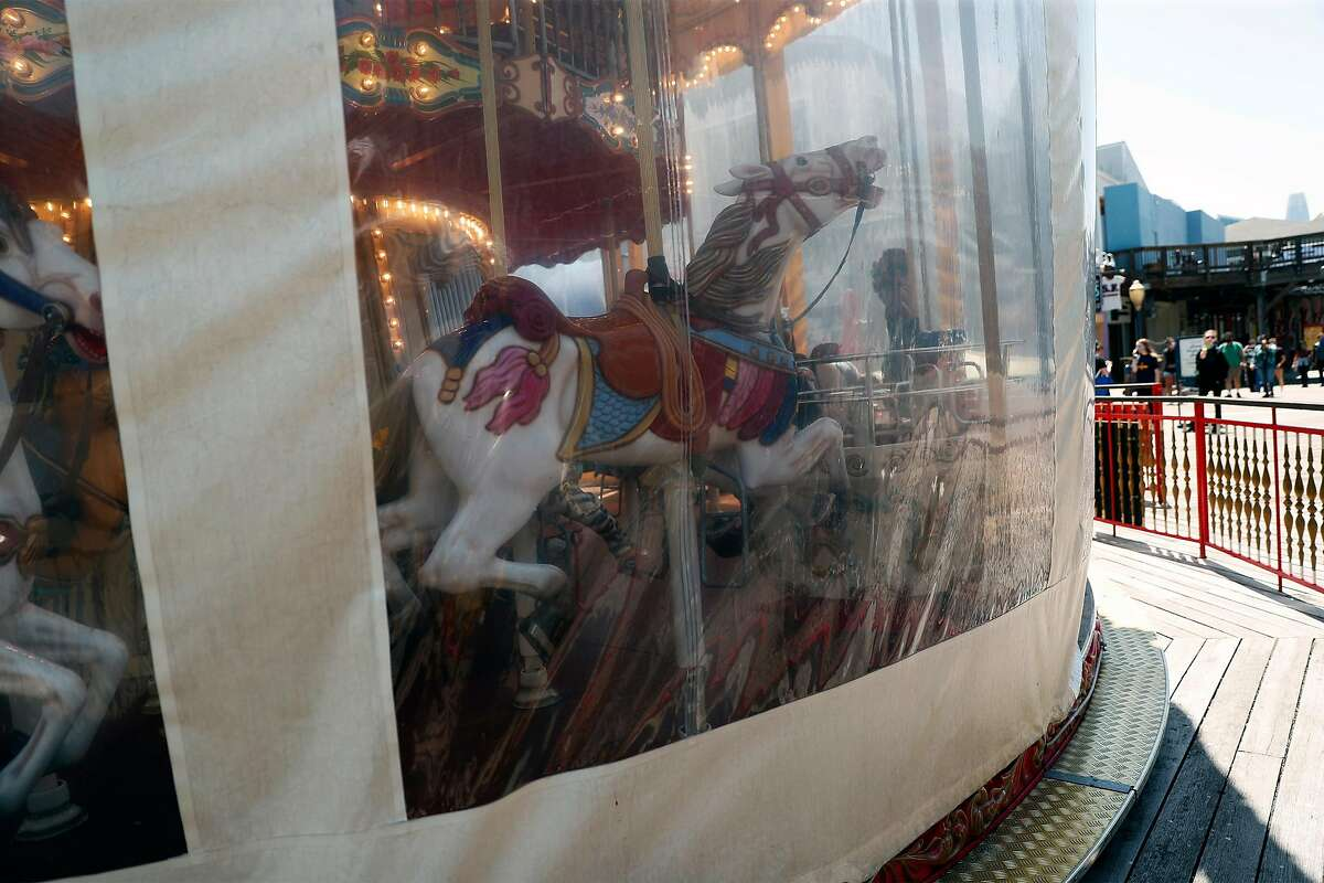 The Pier 39 Carousel is temporally closed in San Francisco, Calif., on Wednesday, July 2, 2020. The Bay Area and California are struggling to control the coronavirus after having success with shelter in place earlier in 2020.