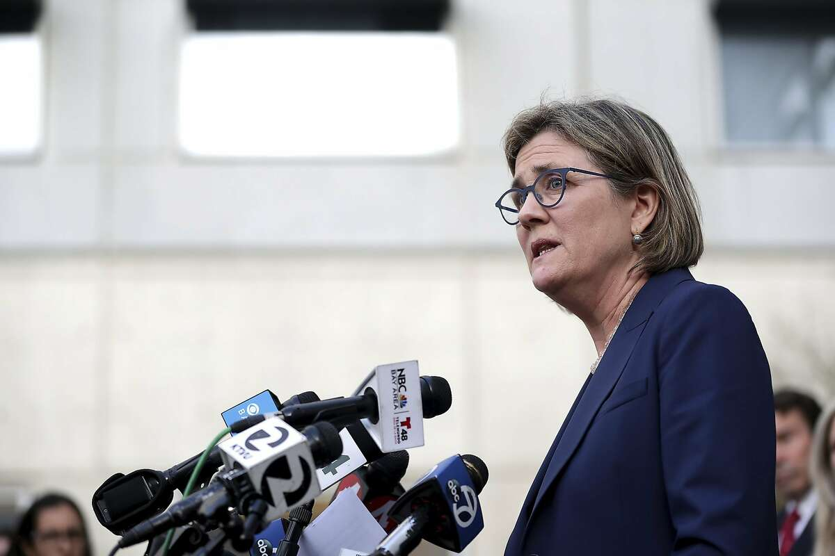 Santa Clara County Public Health Department Director Dr. Sara Cody speaks during a news conference in San Jose, Calif., on Friday, Feb. 28, 2020.