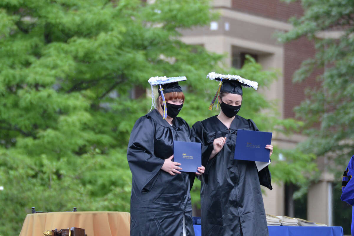 SUNY Schenectady's 50th Commencement, which took place on campus on Monday, June 29, featured about 465 graduates invited to participate in the college's