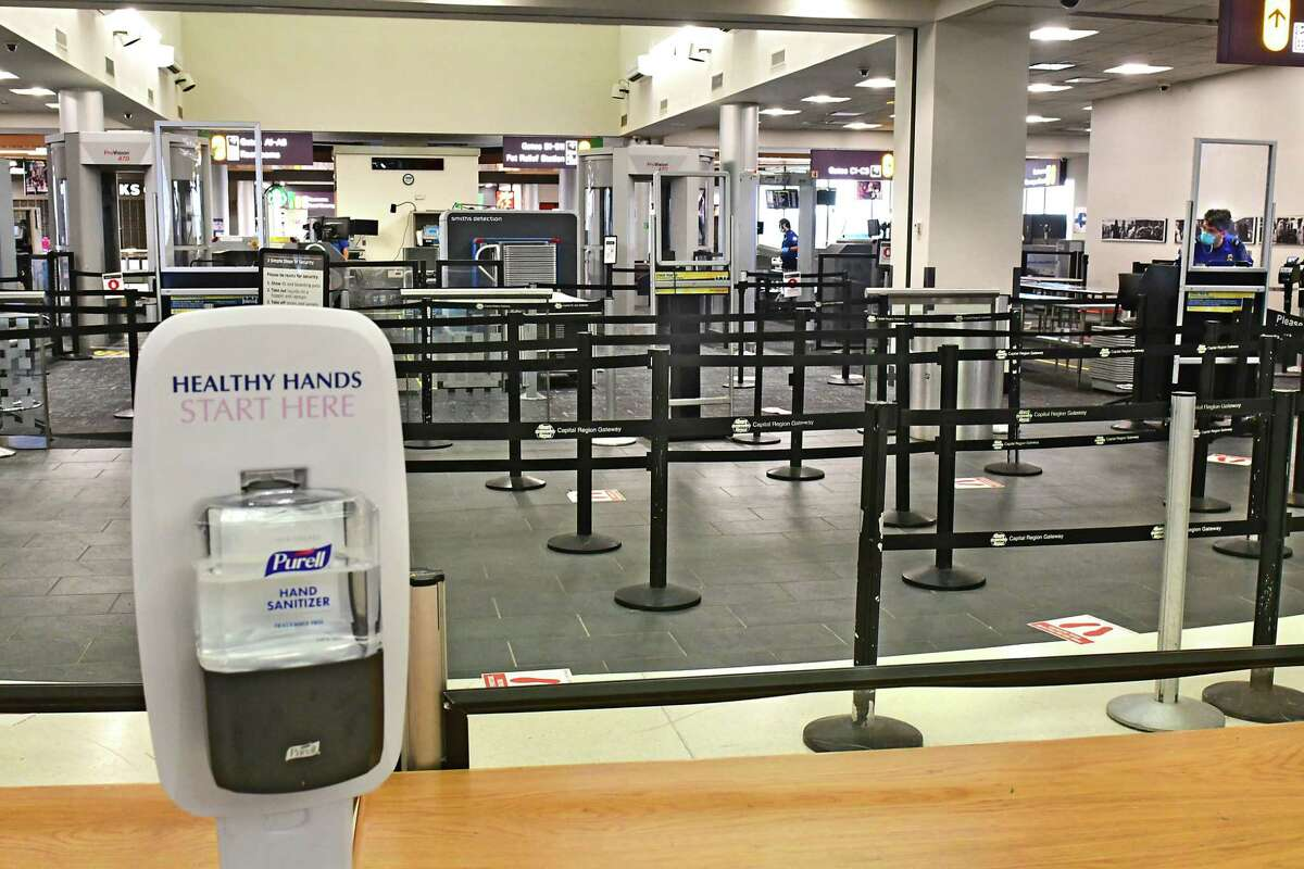 Holiday travel was light at the Albany International Airport due to the COVID-19 pandemic on Friday, July 3, 2020 in Colonie, N.Y. (Lori Van Buren/Times Union)