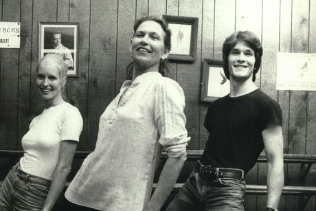 Patsy Swayze, center, taught son Patrick Swayze and his wif Lisa Haapaniemi (aka Niemi), to dance at her studio in Houston. The three are shown in a 1978 photo.