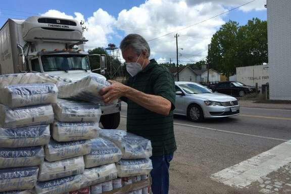 Tomball Emergency Assistance Ministries receives food pantry donations during the COVID-19 pandemic.