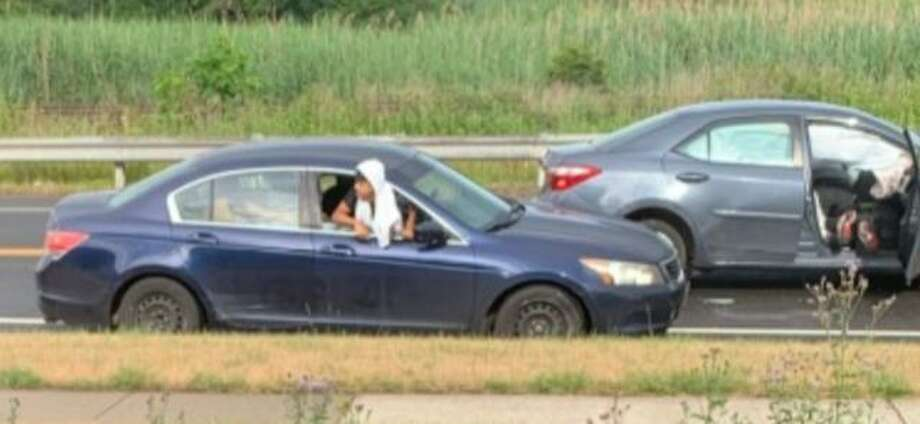 Photos of two vehicles police say were involved in a hit-and-run in Hamden, Conn. on July 1, 2020. The crash killed 21-year-old Garrison Nieves, of Hamden, according to police. Photo: Courtesy Of Hamden Police Department