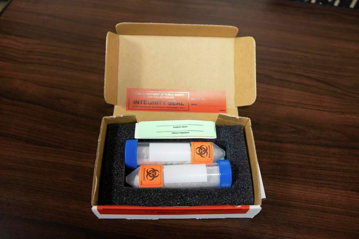 Vials are contained in test kits which will preserve the blood taken from suspected intoxicated drivers, Thursday, June 2, 2020. The Montgomery County District Attorney's Office spearheaded efforts in curbing intoxicated driving during this upcoming 4th of July holiday weekend.