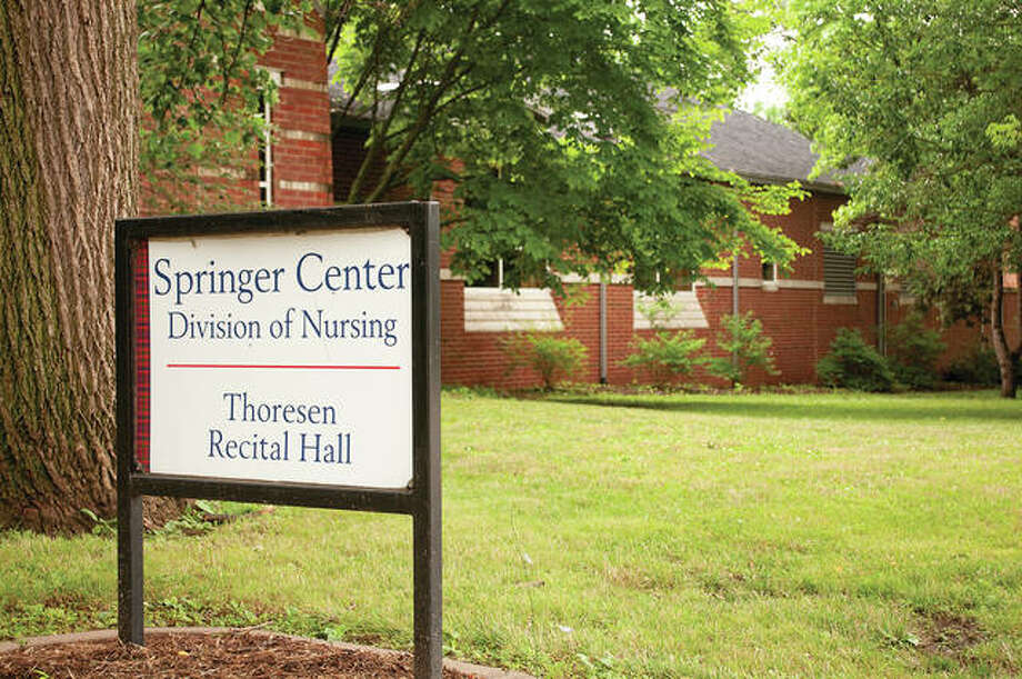 Home to MacMurray College's nursing program, the Putnam-Springer Center was dedicated in 2002 and initially housed the art and music departments. MacMurray said goodbye Friday to its last nursing class. Ten students finished with a Bachelor of Science degree in nursing. Photo: Darren Iozia | Journal-Courier