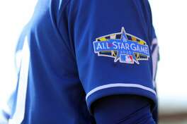 GLENDALE, AZ - FEBRUARY 24: Detail view of an All-Star Game patch on the jersey of the Los Angeles Dodgers during a game against the Chicago White Sox on Monday, February 24, 2020 at Camelback Ranch in Glendale, Arizona. (Photo by Alex Trautwig/MLB Photos via Getty Images)