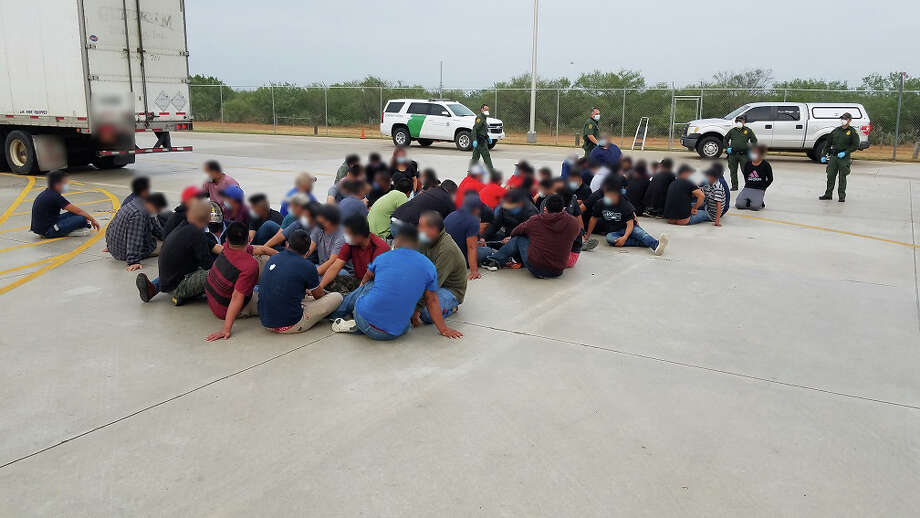U.S. Border Patrol agents said they detained 66 immigrants who were illegally present in the country. A truck driver tried to smuggle them through the checkpoint on Interstate 35. Photo: Courtesy Photo