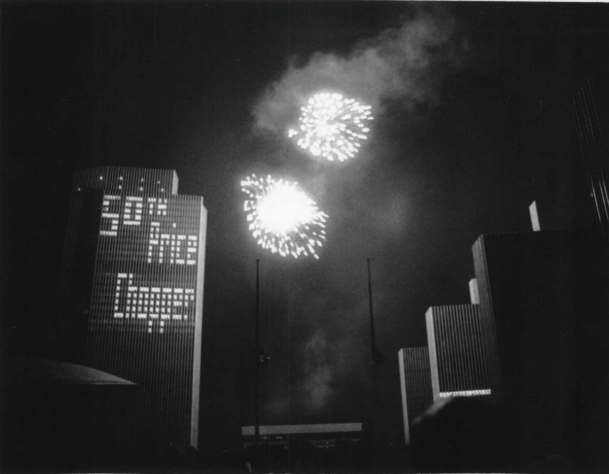 So Mall Fireworks. July 4, 1983 (Tom LaPoint/Times Union Archive)