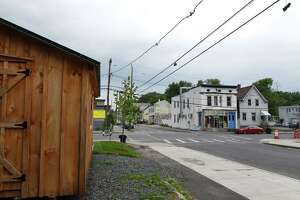 View of Kizzy Williams' lot on the corner of Quail and First streets which she is turning into a cultural hub on Friday, July 3, 2020, in Albany, N.Y. Williams is the owner of Allie BÕs Cozy Kitchen. She hopes her purchase and work will inspire Black ownership of land and homes. (Will Waldron/Times Union)