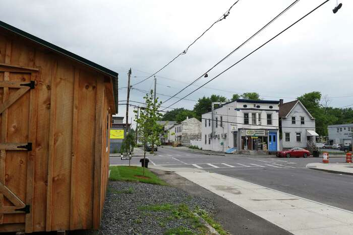 View of Kizzy Williams' lot on the corner of Quail and First streets which she is turning into a cultural hub on Friday, July 3, 2020, in Albany, N.Y. Williams is the owner of Allie B?•s Cozy Kitchen. She hopes her purchase and work will inspire Black ownership of land and homes. (Will Waldron/Times Union)