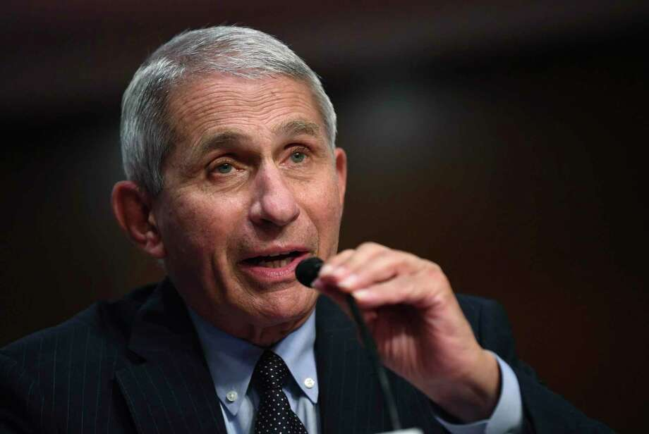Dr. Anthony Fauci, the nation's top infectious disease expert, says goggles or eye shields with masks offer maximum protection against coronavirus. Photo: Kevin Dietsch, POOL / Associated Press / UPI
