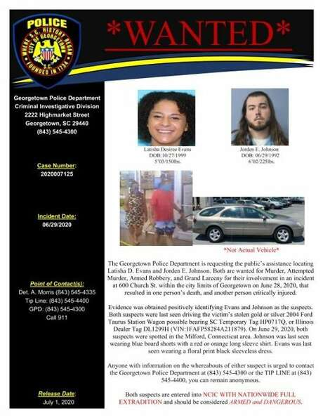 A wanted poster of the two suspects. Photo: Georgetown Police Department