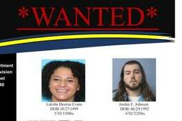A wanted poster of the two suspects.