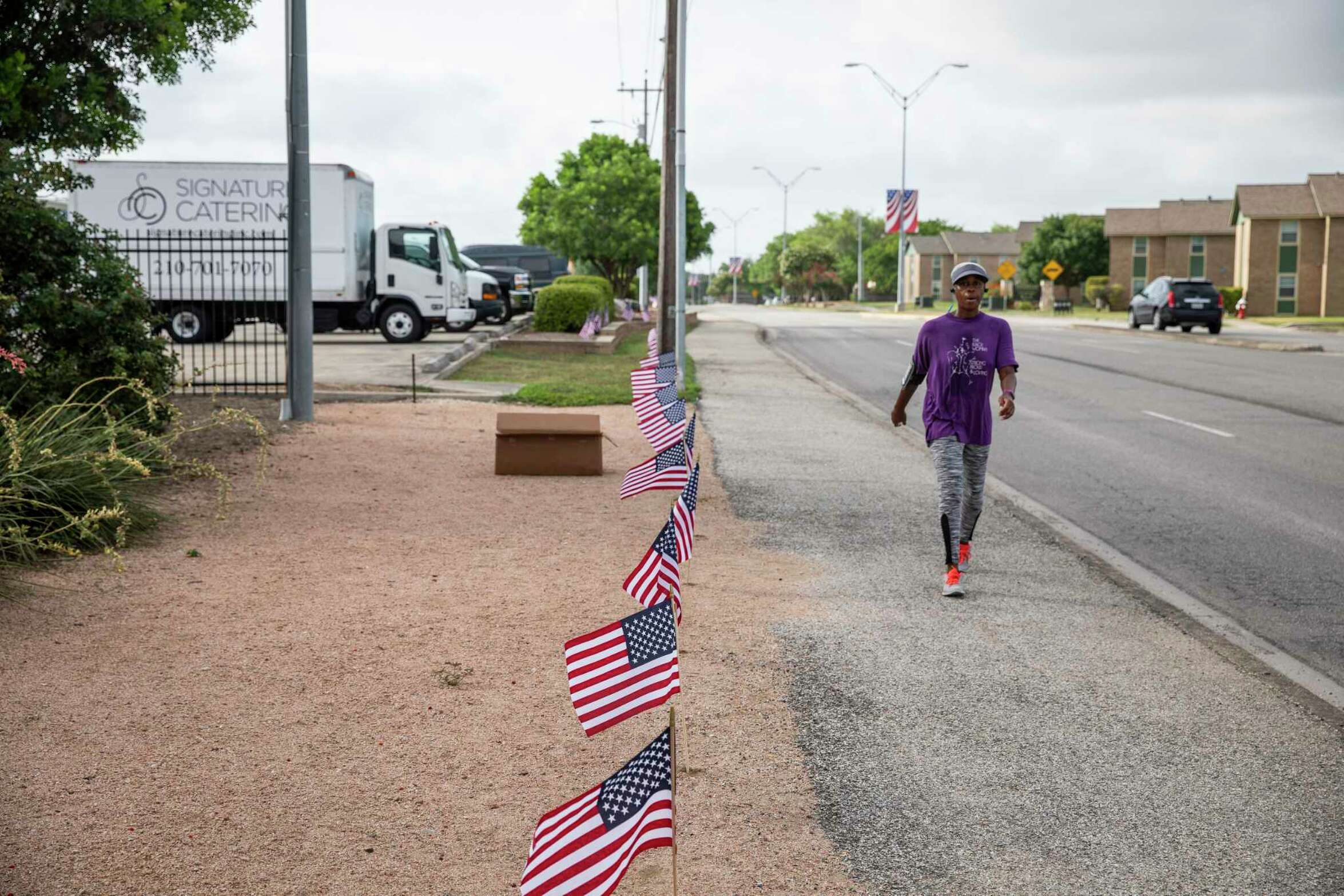 Eagle Scout candidate Kyle Dorsey decided to place 6,000 flags, with the help of volunteers and the cooperation of the city of Schertz, along a 3-mile stretch of Schertz Parkway to celebrate Independence Day this year