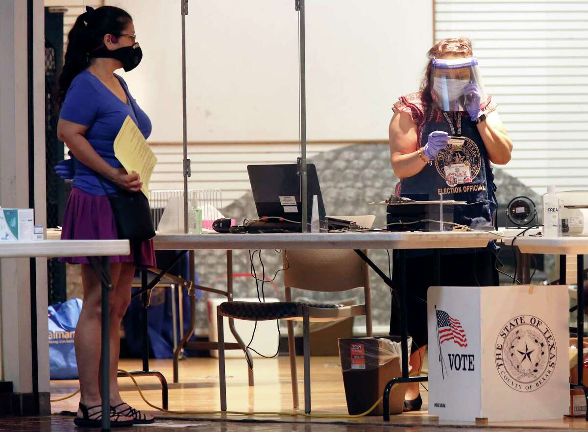 It's time to make your vote count. Poll workers this summer donned protective gear wear at the Wonderland of the Americas Mall for the runoff election. Wear a mask and be kind.
