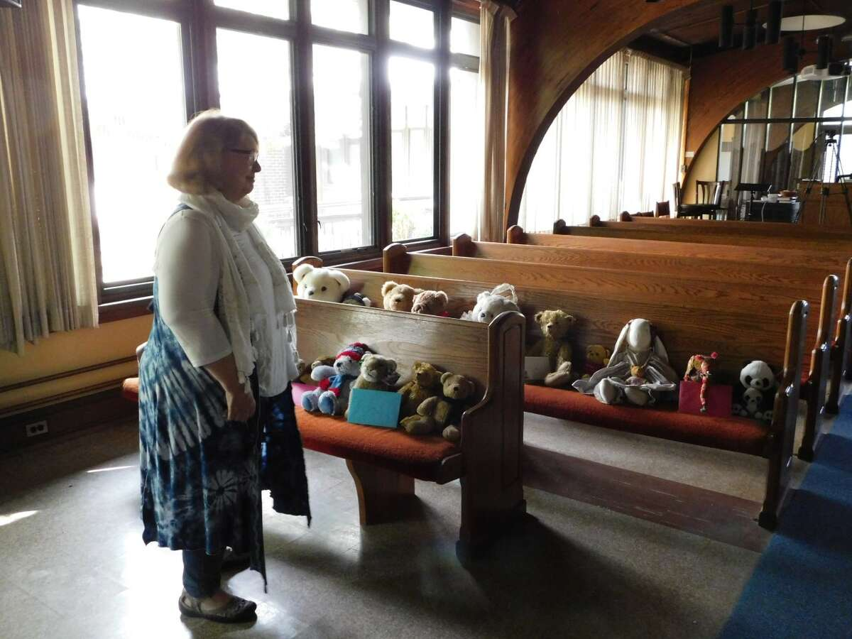 Provided photo Families at Delmar Presbyterian Church filled pews with stuffed animals on the pastor's birthday.