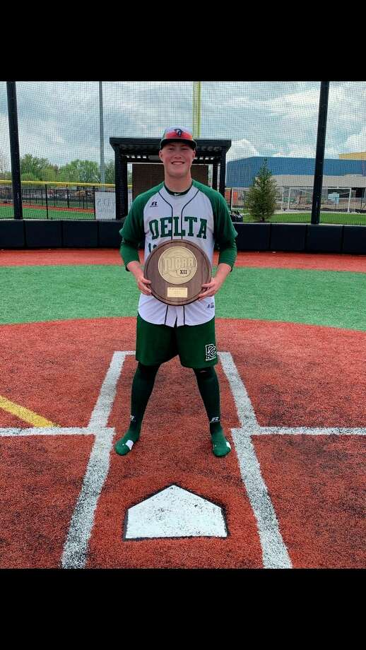 Jackson Lund is playing baseball at Delta College (Courtesy photo)