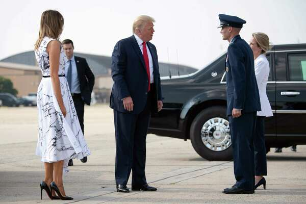 US President Donald Trump and First Lady Melania Trump are seen as they board Air Force One prior to departing from Joint Base Andrews in Maryland, July 3, 2020, as they travel to view Independence Day fireworks at Mount Rushmore in South Dakota. (Photo by SAUL LOEB / AFP) (Photo by SAUL LOEB/AFP via Getty Images)