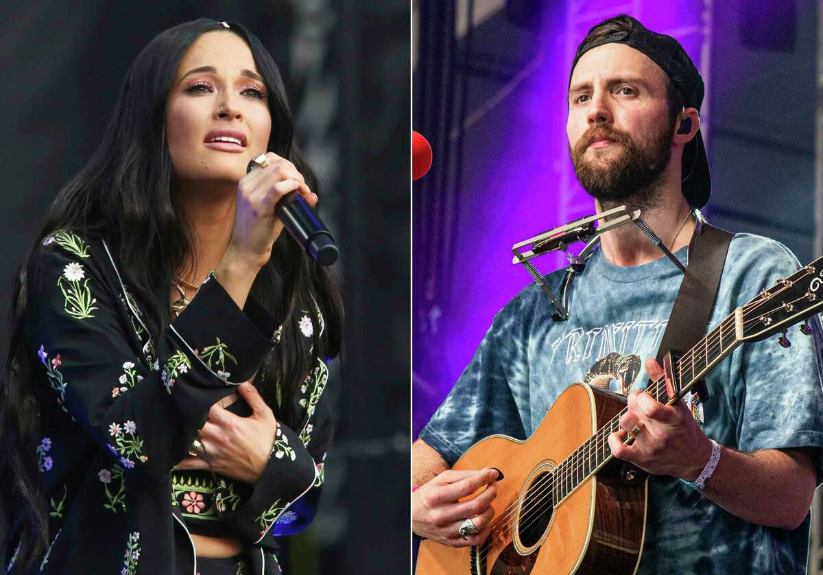 Kacey Musgraves performs during the first weekend of the Austin City Limits Music Festival in Zilker Park on Oct. 6, 2019, in Austin, Texas, left, and Ruston Kelly performs at the Bonnaroo Music and Arts Festival on June 15, 2019, in Manchester, Tenn. Musgraves and Kelly have filed for divorce. In a joint statement, Musgraves and Kelly said a€œwea€™ve made this painful decision together.