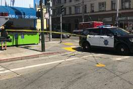 San Francisco fire department responded to a two alarm fire Friday afternoon in the Mission district.
