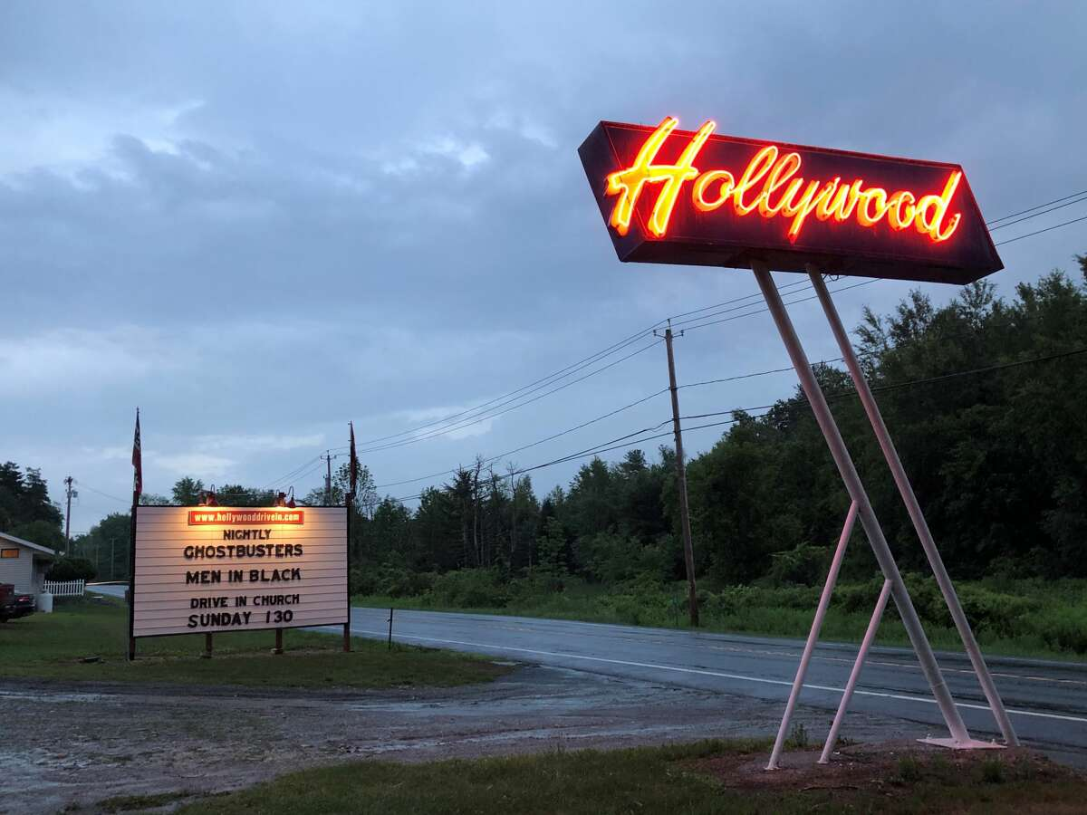 Hollywood Drive-In in the town of Poestenkill on Friday night, July 3, 2020.  Gary Hahn  Times Union