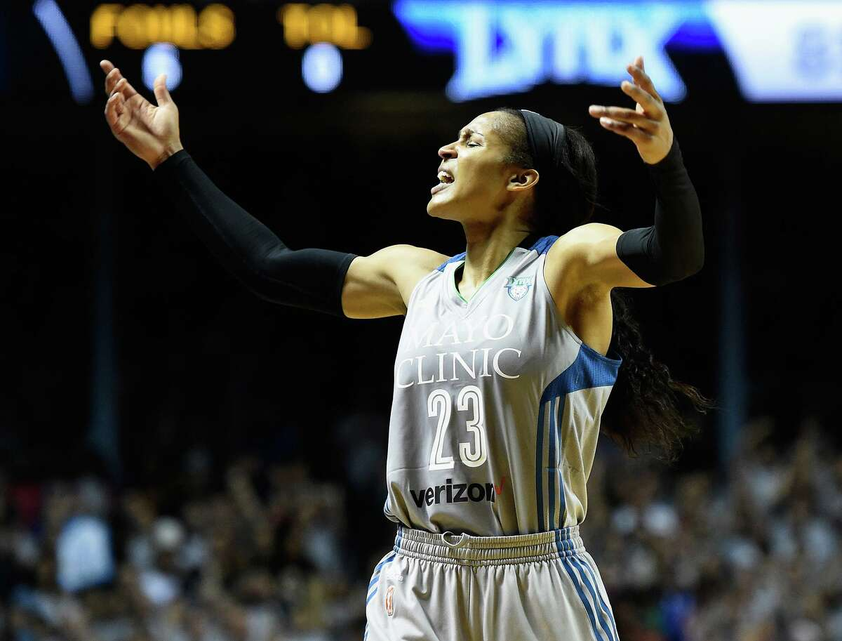 The Minnesota Lynx's Maya Moore, shown during a 2017 WNBA Finals game, announced Wednesday that she's married to Jonathan Irons, the man she'd helped free from a wrongful prison conviction.