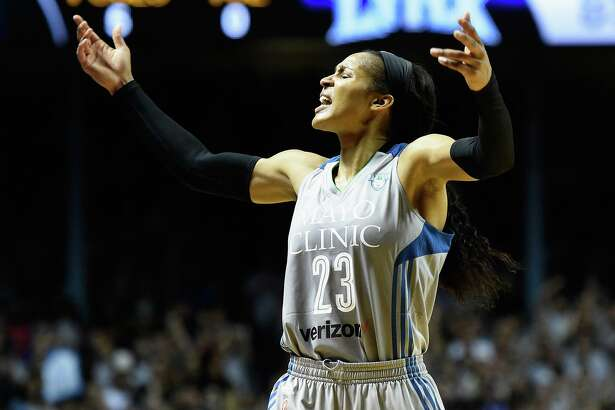 The Minnesota Lynx's Maya Moore pumps up the crowd in the final minute of Game 5 of the WNBA Finals against the Los Angeles Sparks in 2017. The former UConn star had more to celebrate this week, as Jonathan Irons was released from prison. Moore had put her WNBA career on hold to help overturn what she believed was his unjust conviction.
