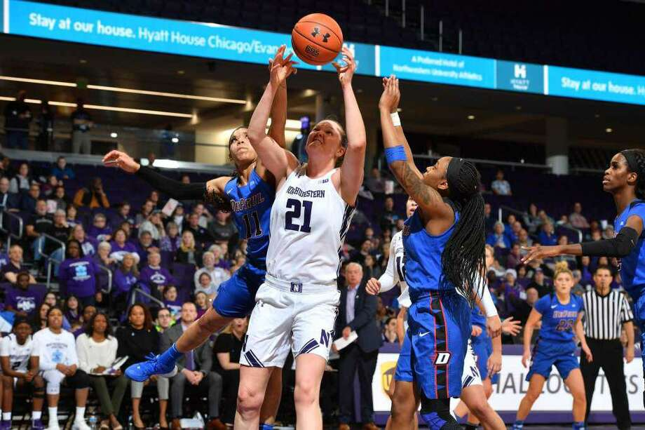 Abbie Wolf, a 2016 Greenwich High School graduate, who played basketball for the Cardinals and Northwestern University, recently signed a contract to play at the professional level in Spain. She signed to play for Club Deportivo Zamarat, which is located in Zamora, Spain. Photo: Photo: Stephen Carrera /Northwestern Athletics