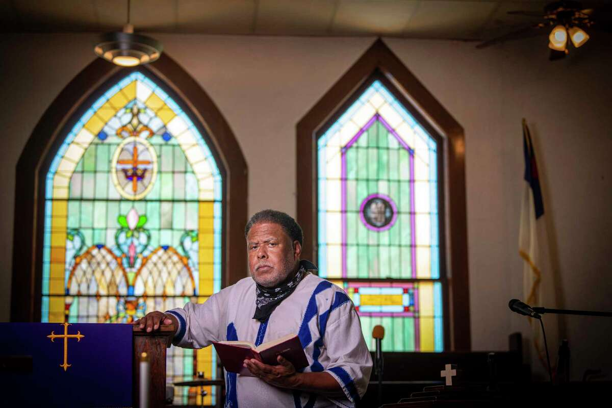 """St. James African Methodist Episcopal Church Pastor, The Rev. Alvin Smith, leads one of San Antonio's oldest black churches. Like most places of worship, St. James has struggled during the COVID-19 pandemic. But the recent discovery of the historic foundation of one of St. James' early church buildings, in a focal area of Bexar County's massive San Pedro Culture Park project, has shed a """"ray of hope"""" for the congregation, which now holds online worship services but hopes return to its current 1930s location on the near West Side, the church's pastor says."""