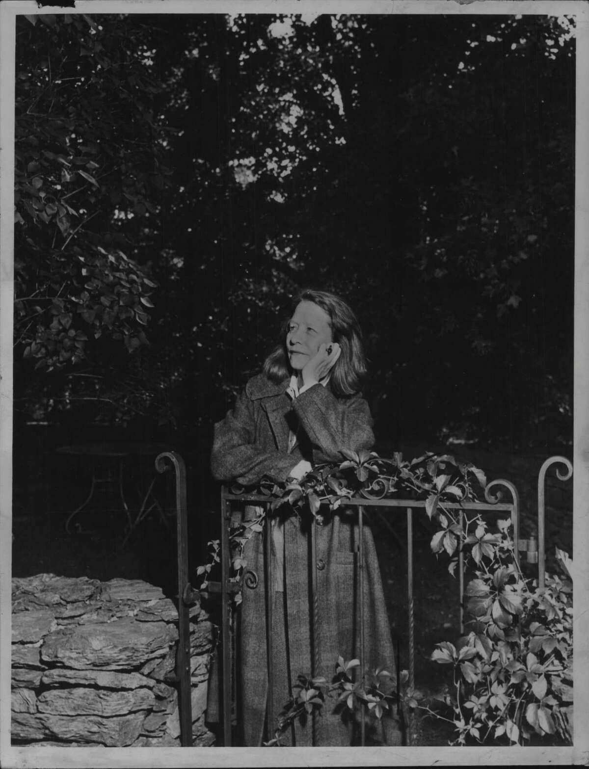 Edna St. Vincent Millay, New York poet, posed shortly before her death in 1950. (Times Union Archive)