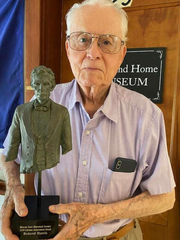 """Roland Harris of Highland has received the """"Best of Illinois History"""" Lifetime Achievement Award from the Illinois State Historical Society. Harris"""