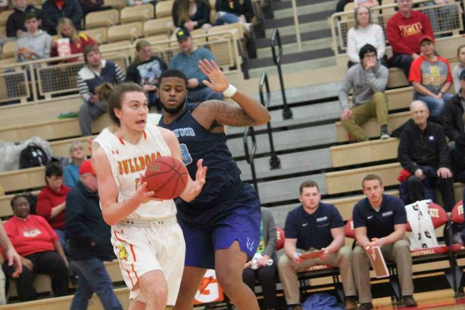 Ferris' Logan Ryan goes to the basket in action last season, (Pioneer file photo)
