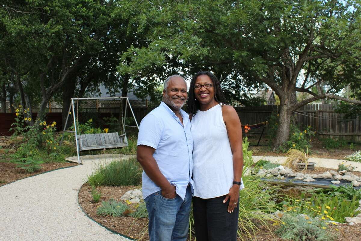 Stewart Blanton and Aissatou Sidimé-Blanton live in Castle Hills.