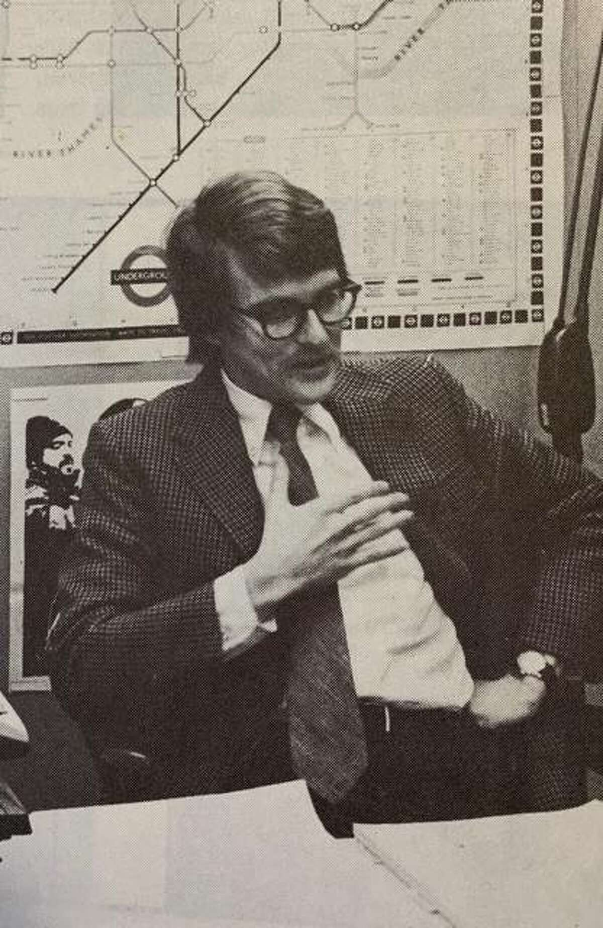 Paul Gaston as a professor at SIUE in 1971. Gaston was at SIUE in May 1970 when students protested at the school after four unarmed Kent State University students were shot and killed by the Ohio National guard during an anti-war rally.