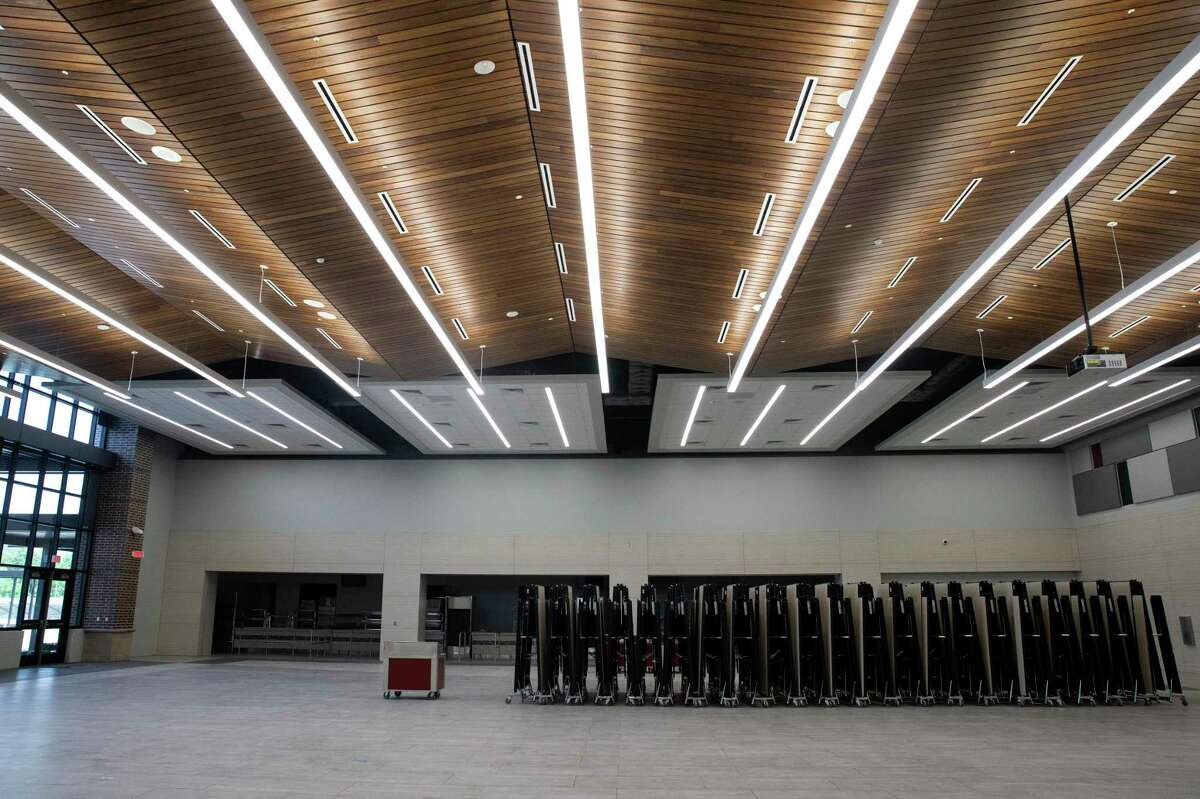 The cafeteria of Conroe ISD's brand new Stockton Jr. High School onThursday, July 2, 2020, in Conroe.