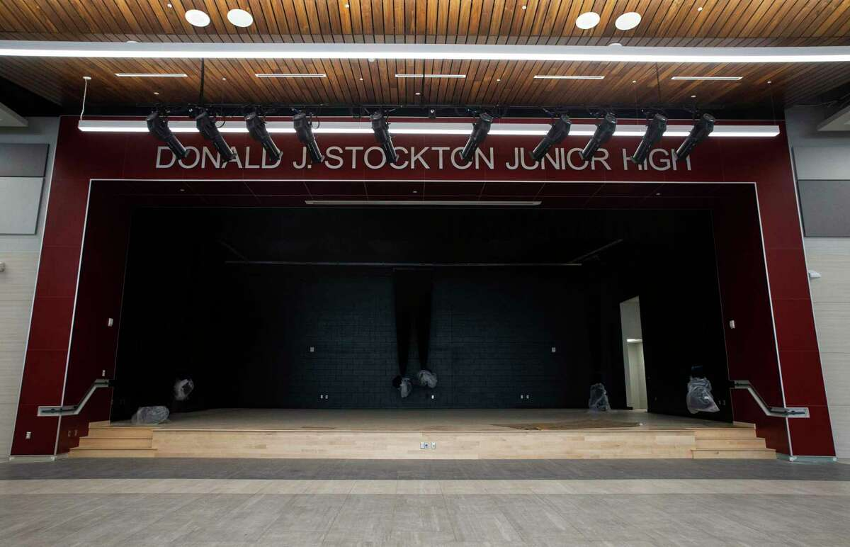 The stage of Conroe ISD's brand new Stockton Jr. High School onThursday, July 2, 2020, in Conroe.