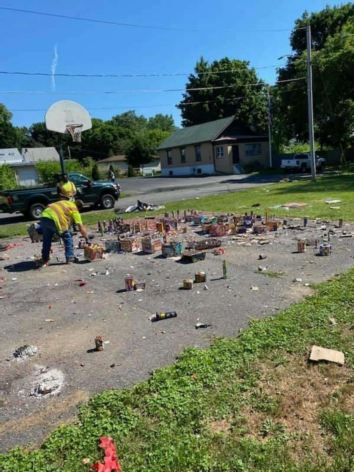 Albany Mayor Kathy Sheehan shared photos of the fireworks left behind after massive amounts were shot off by residents July 4, 2020.