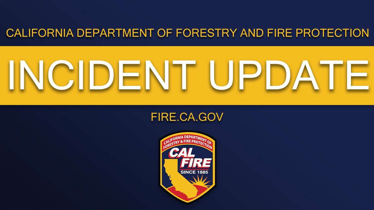 The fire is advancing at a moderate rate, according to Cal Fire, which said two structures are involved and others are threatened.