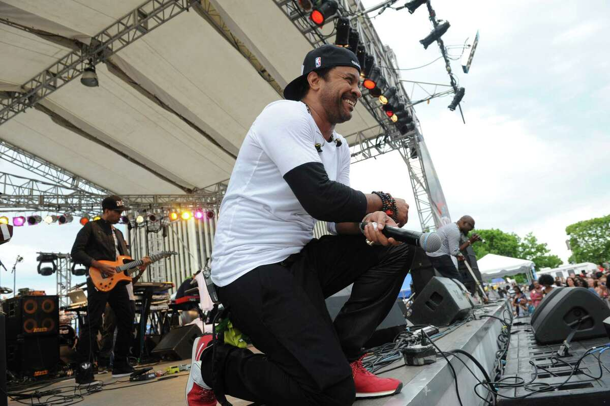 Shaggy entertains at the Empire State Plaza on Wednesday June 18, 2014 in Albany, N.Y. (Michael P. Farrell/Times Union)