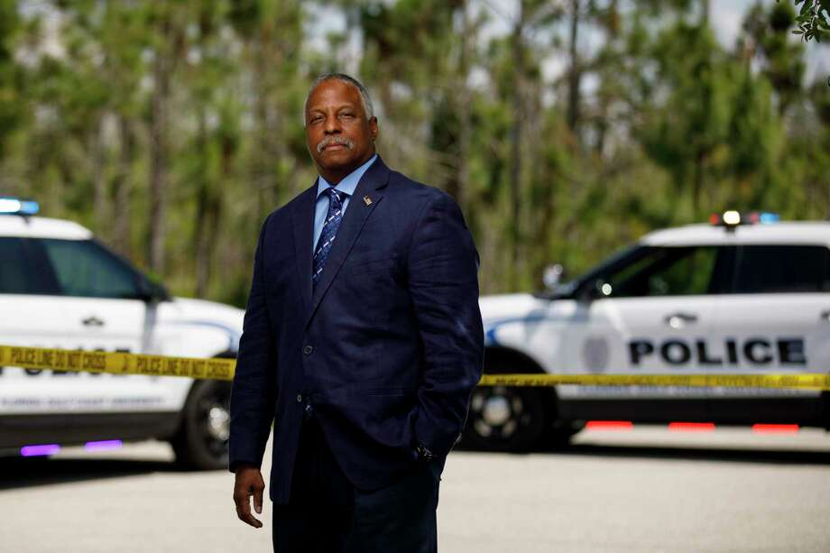 David J. Thomas remembers a police officer pulling a gun on him as a kid. Thomas later signed up to be an officer. Photo: Brian Tietz/Florida Gulf Coast University. / Brian Tietz/Florida Gulf Coast University