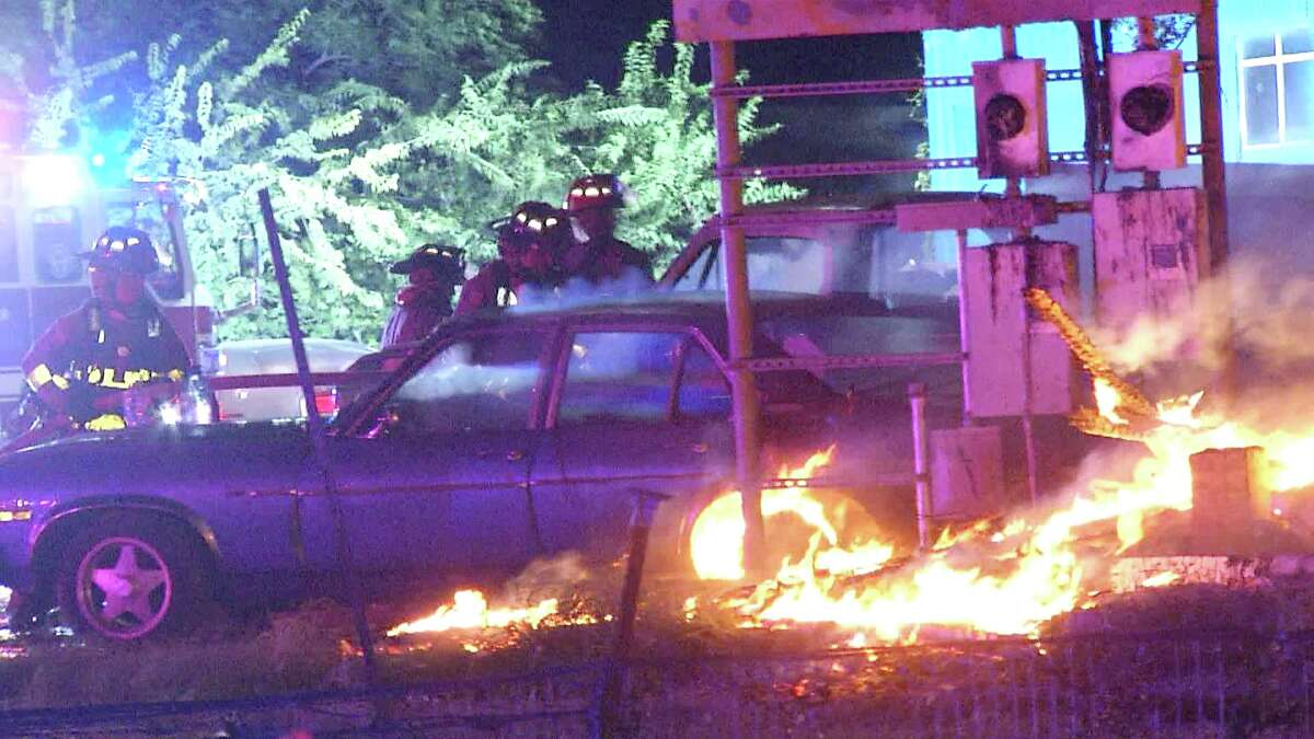 A Southwest Side home was destroyed and several other buildings were damaged during a fire Sunday night.