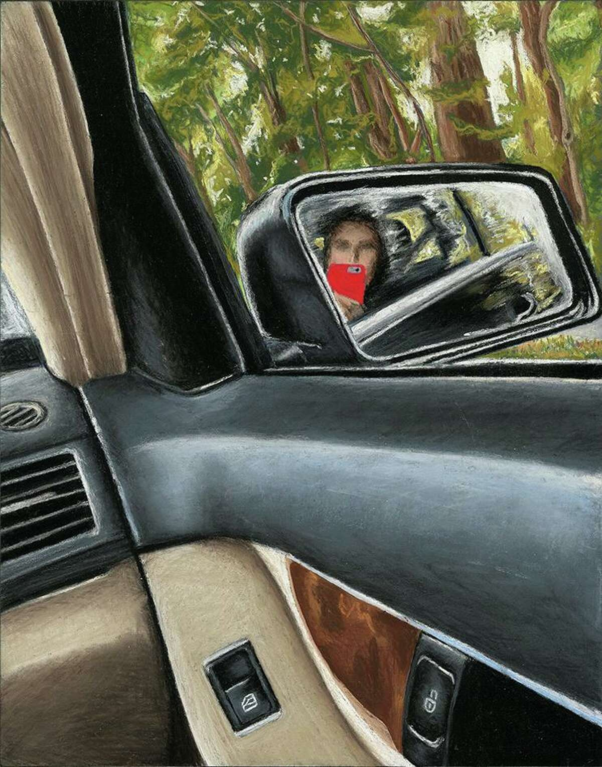 """Annie Gong's """"Side View Mirror"""" in pastel"""