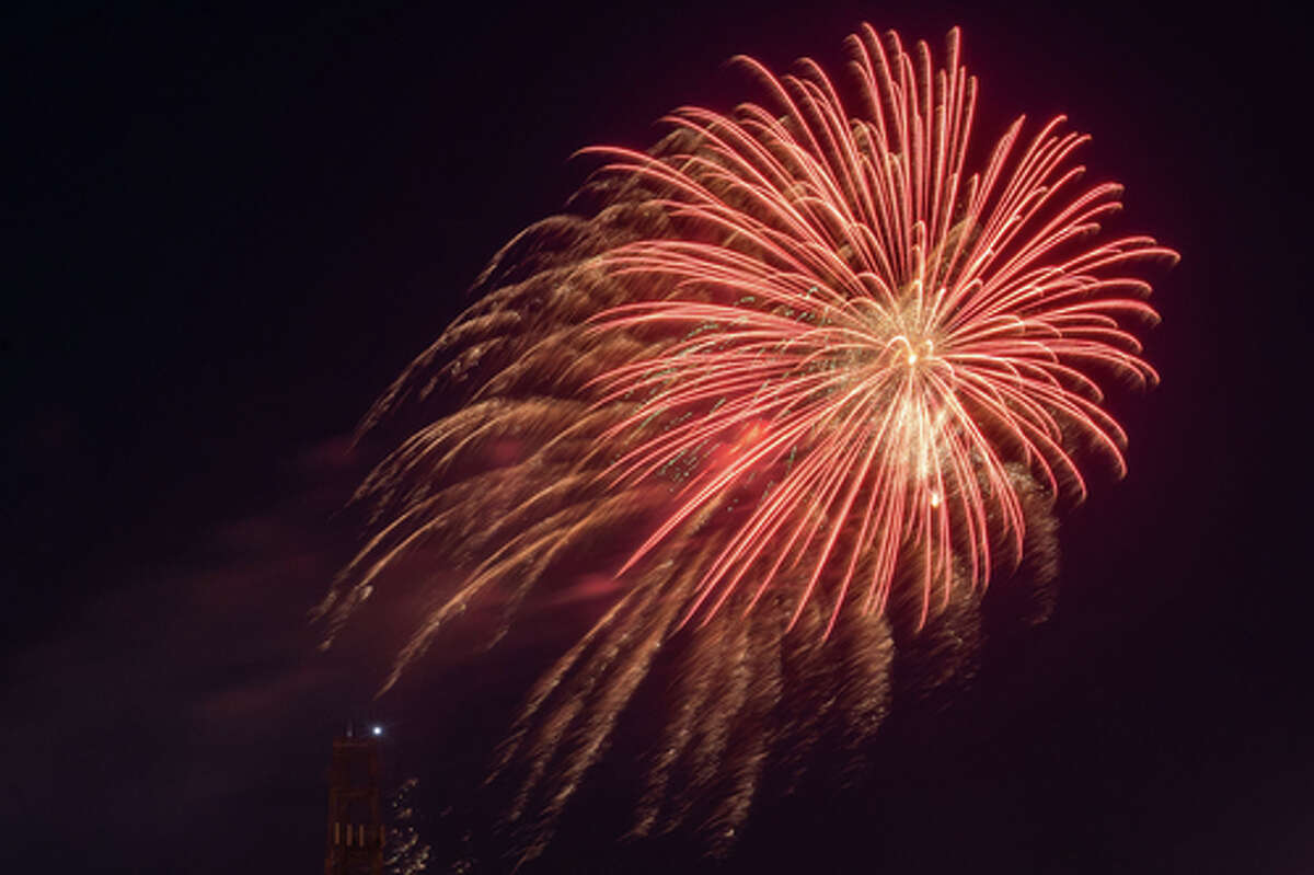Beaumont finished off the celebration of the Fourth of July holiday with a fireworks show downtown. Photo made on July 4, 2020. Fran Ruchalski/The Enterprise