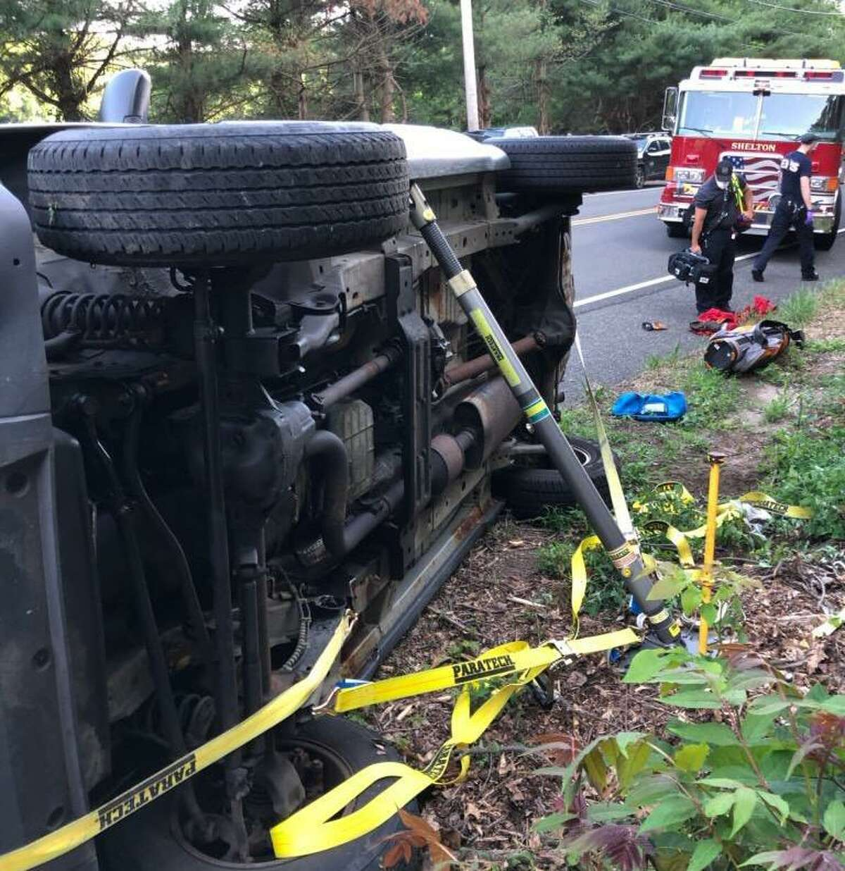 Shelton firefighters companies responded to River Road near Moulthrop Road in July on a report of a single-vehicle rollover with one occupant trapped. The road is the scene of numerous accidents, which is why the state is now installing centerline rumble strips.