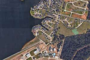 A boy nearly drowned Sunday on Lake Conroe.