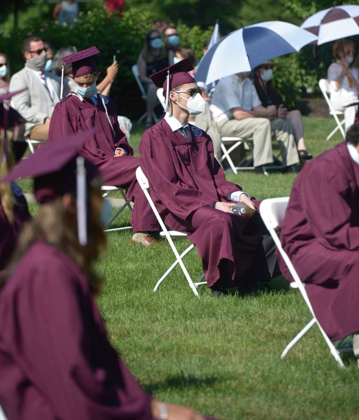 Photographs from the Wooster School 2020 Commencement Exercises, Monday, July 6, 2020, on the school campus, Danbury, Conn.