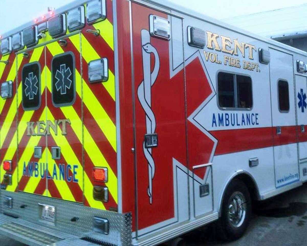 Kent Volunteer Fire Department ambulance.