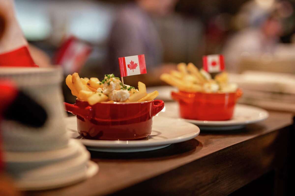 Riel restaurant in Montrose is reopening for dinner service at 50 percent capacity. Chef/owner Ryan Lachaine is marking the reopening with a special Canada Week menu July 6-11 that includes poutine, deli dogs, pizza subs, and tourtinere pierogis.