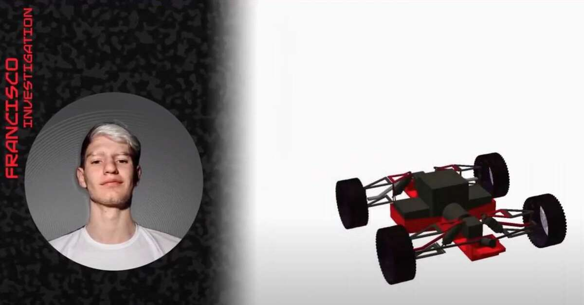 Francisco Yennaccaro, a 16-year-old in Argentina, is pictured in a YouTube video explaining how Team Atlas is designing a race car for the moon.
